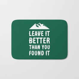 Leave It Better Than You Found It - Mountain Edition Bath Mat