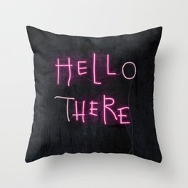 Hell Here Throw Pillow