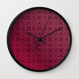 Red ornament Wall Clock