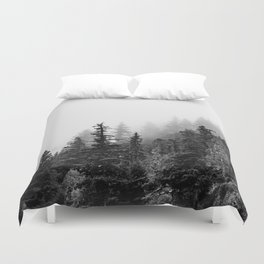 Foggy Trees Duvet Cover