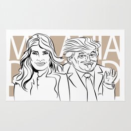 Face Melania And Donald Rug