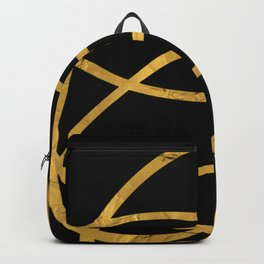 Golden Arcs - Abstract Backpack