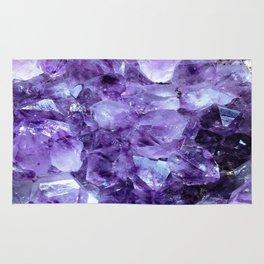 Amethyst Crystals Rug