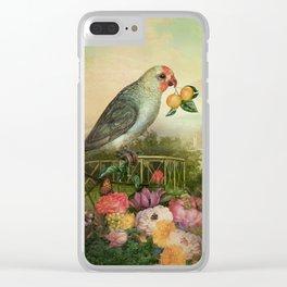 Mandarin Basilic Clear iPhone Case