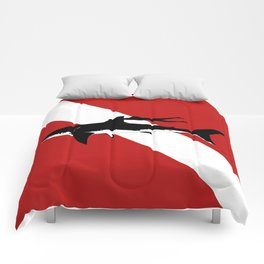 great white shark dive Comforters