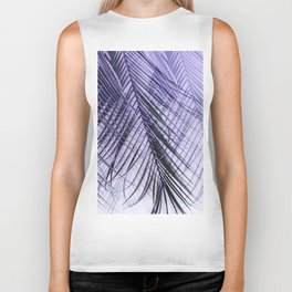 Palm Leaves On A Violet Background #decor #society6 #buyart Biker Tank