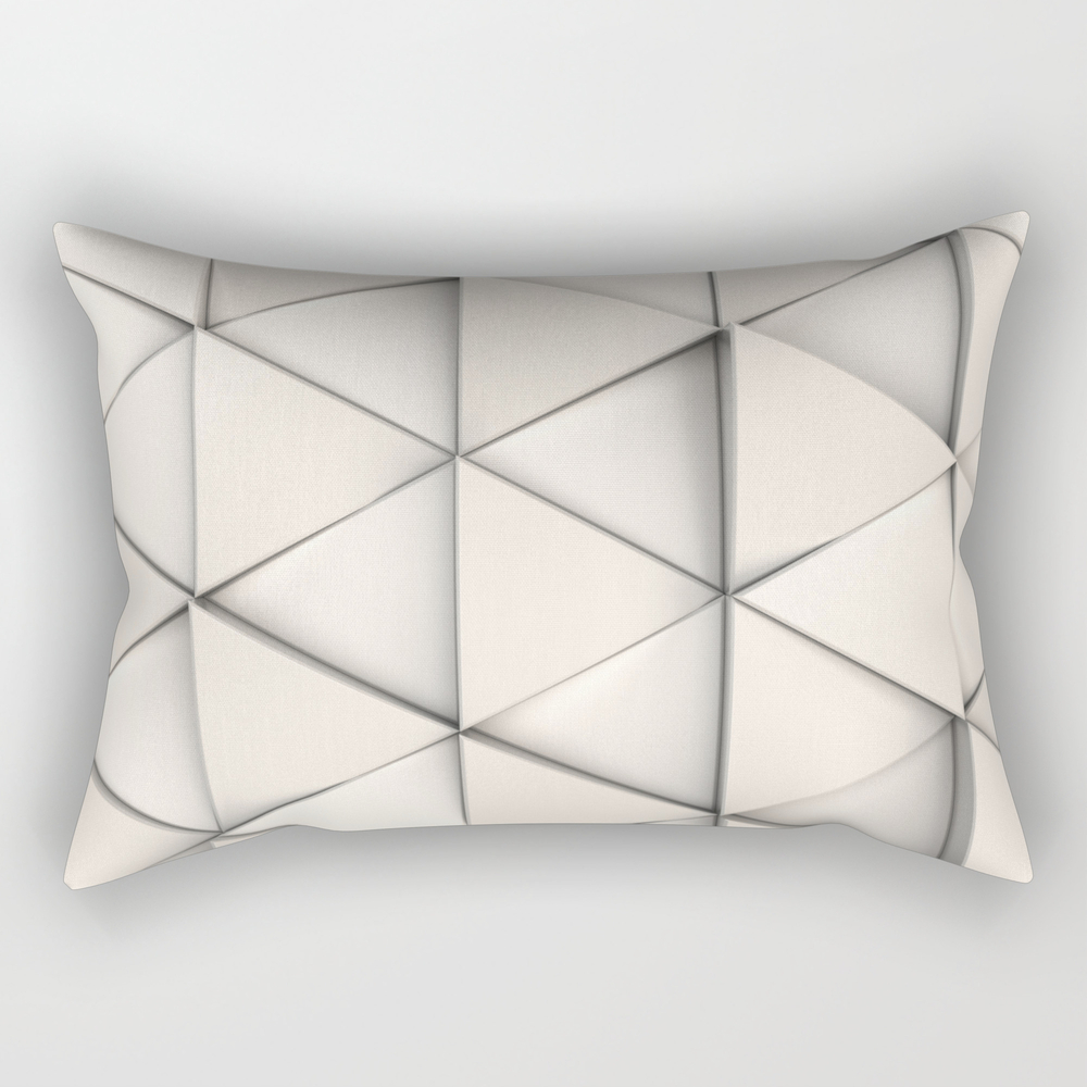 Pattern Of White Triangle Prisms Rectangular Pillow RPW8673774