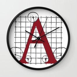 SEBASTIANO SERLIO ALPHABET – A Wall Clock