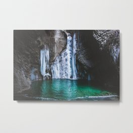 Frozen waterfall Metal Print