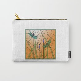 Dragonflies Stained Glass Carry-All Pouch