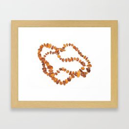 beads with amber Framed Art Print