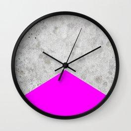 Concrete Arrow - Neon Purple #728 Wall Clock