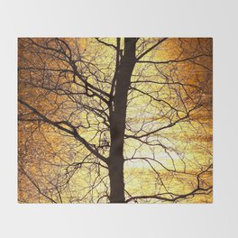 Tree Silhouette At Sunset #decor #society6 Throw Blanket