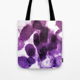 Artistic Purple Watercolor Spots Tote Bag