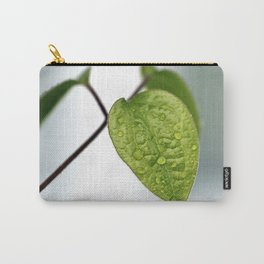 Raindrop Leaves Carry-All Pouch