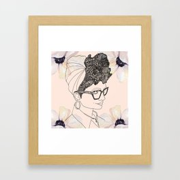 Hard to Get Framed Art Print