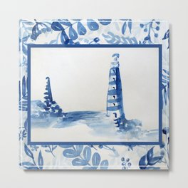 blue lighthouse Metal Print
