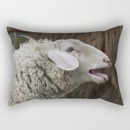 sheep on the farm Rectangular Pillow