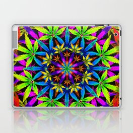 Stoners' Mandala Cannabis Leaves Laptop & iPad Skin