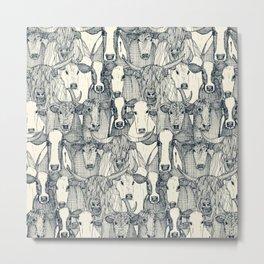 just cattle indigo pearl Metal Print