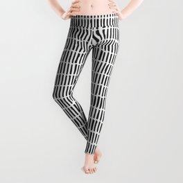 Black & White Hand-drawn Stick Pattern Leggings