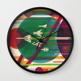 The Grand Tour Retro Poster Wall Clock