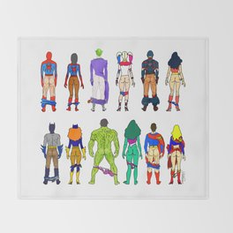 Superhero Butts - Power Couple Throw Blanket