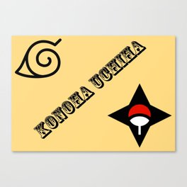 Konoha Uchiha Canvas Print