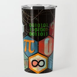 Math Game in black Travel Mug