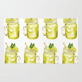 Watercolor Summer Lemonade Rug