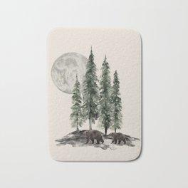 Full Moon Rising Bath Mat