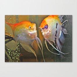 VAL & TINE ANGELS Canvas Print