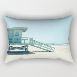 Hermosa Beach Lifeguard Tower 19 Rectangular Pillow