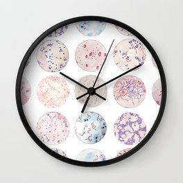 Microbe Collection Wall Clock