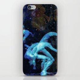 Jumping men iPhone Skin