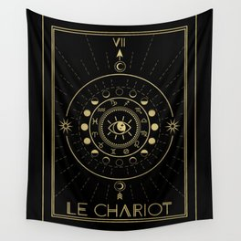 Le Chariot or The Chariot Tarot Wall Tapestry
