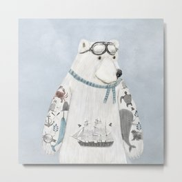 the arctic explorer Metal Print