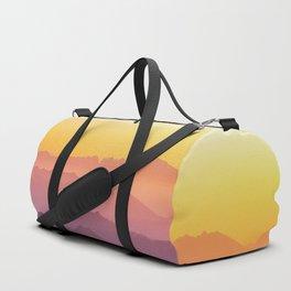 MOUNTAINS - LANDSCAPE - PHOTOGRAPHY - RAINBOW Duffle Bag