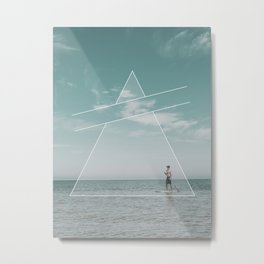 Paddle Triangle Metal Print