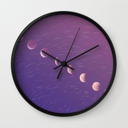 a red moon Wall Clock