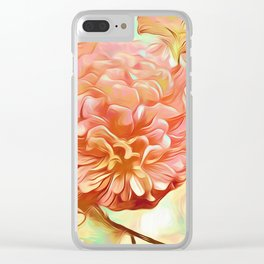 Floral Delight Clear iPhone Case