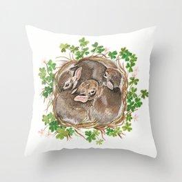 Bunny Nest Throw Pillow