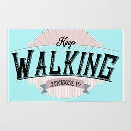 Keep Walking - by Fanitsa Petrou Rug