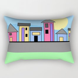 Pastel Daytime Houses Rectangular Pillow