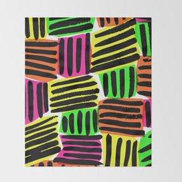Neons - Sarah Bagshaw Throw Blanket