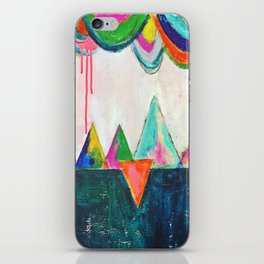 Bliss land abstract candy colored painting iPhone Skin
