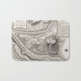 Vintage Map of Pittsburgh PA (1796) Bath Mat