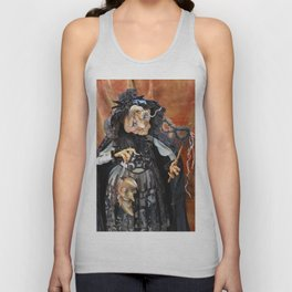 Rucus Studio Late to the Party - Pumpkin Lady Unisex Tank Top