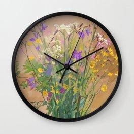 Bouquet of Field Flowers Wall Clock