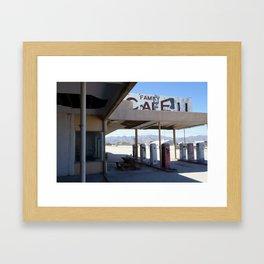 Family Cafe Framed Art Print